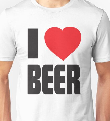 Funny Shirt - I Love Beer Unisex T-Shirt