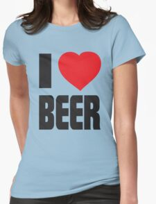 Funny Shirt - I Love Beer Womens Fitted T-Shirt