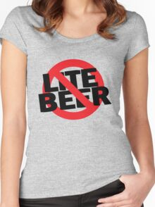Funny Shirt - No Lite Beer Women's Fitted Scoop T-Shirt