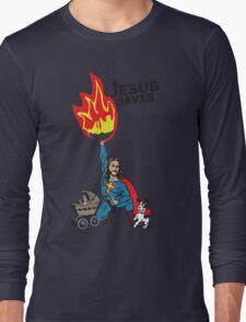 Funny Shirt - Jesus Saves Long Sleeve T-Shirt