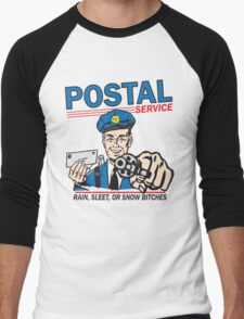 Funny Shirt - Postal Men's Baseball ¾ T-Shirt