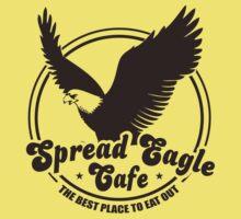 Funny Shirt - Spread Eagle Cafe by MrFunnyShirt