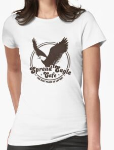 Funny Shirt - Spread Eagle Cafe Womens Fitted T-Shirt