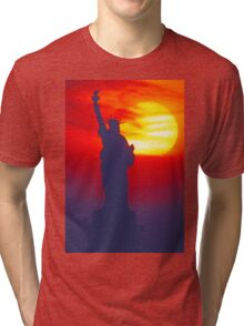 Statue of Liberty - New York Tri-blend T-Shirt