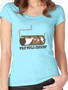 Funny Shirt - WWJD Women's Fitted Scoop T-Shirt