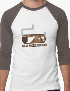 Funny Shirt - WWJD Men's Baseball ¾ T-Shirt