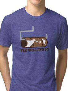 Funny Shirt - WWJD Tri-blend T-Shirt