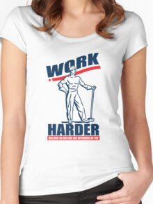 Funny Shirt - Work Harder Women's Fitted Scoop T-Shirt