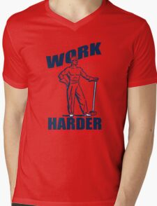 Funny Shirt - Work Harder Mens V-Neck T-Shirt