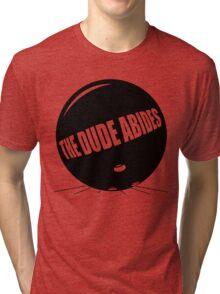 Funny Shirt - The Dude Abides Tri-blend T-Shirt
