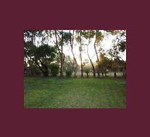 Sunrise through the Mist on Stokes' Farm - Kirkstall, Vic Unisex T-Shirt