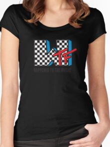 WTF Funny Music Shirt Women's Fitted Scoop T-Shirt