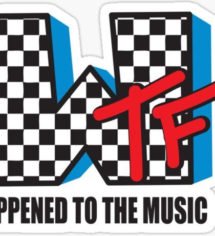WTF Funny Music Shirt Sticker
