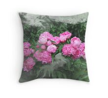 Peony behind Mist Throw Pillow
