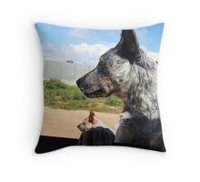 Blue Heeler Dog At Wild Horse Plains Throw Pillow