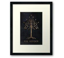 For Gondor (Grunge) Framed Print