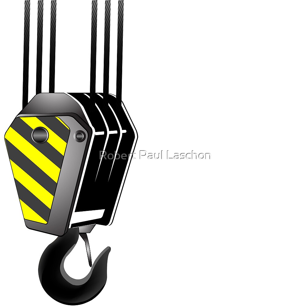 Crane hook with room for text by Laschon Robert Paul