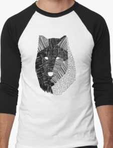 Wolf Mask Men's Baseball ¾ T-Shirt