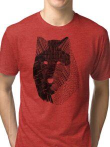 Wolf Mask Tri-blend T-Shirt