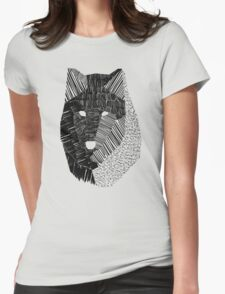 Wolf Mask Womens Fitted T-Shirt