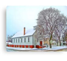 A Victorian Winter Canvas Print