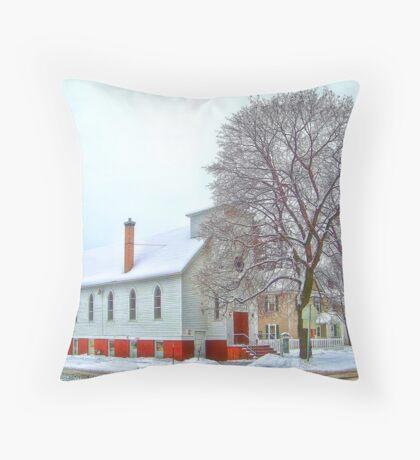 A Victorian Winter Throw Pillow