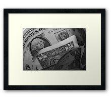 Dollar Dollar Framed Print