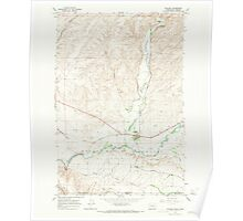 USGS Topo Map Washington Touchet 244324 1966 24000 Poster
