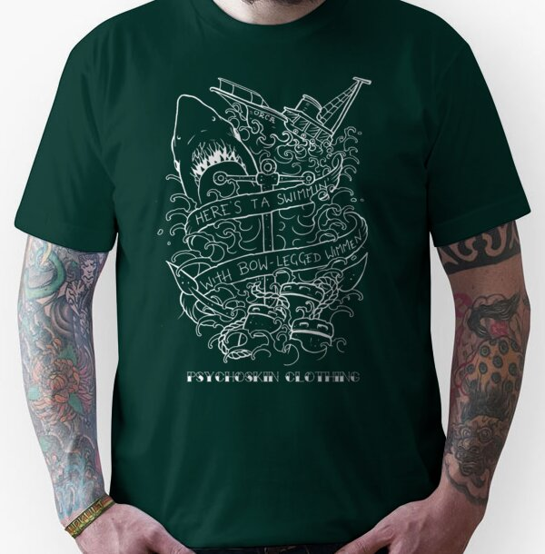 'Jaws' Tattoo design Unisex T-Shirt
