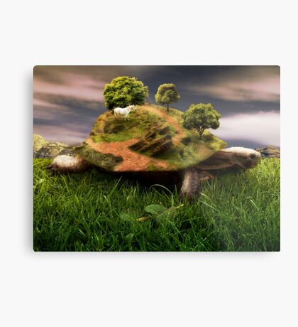 The Weight Upon My Shoulders Metal Print