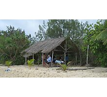 Relaxing on an Island in the Pacific. Photographic Print