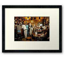 "Early evening in the ""Olde Ship Inn"" (2), Seahouses, 1980s, NE England. Framed Print"