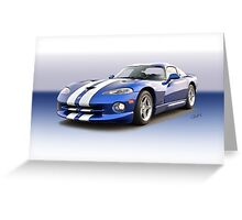 1995 Dodge Viper GTS VS6 Greeting Card