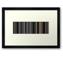 Moviebarcode: There Will Be Blood (2007) [Simplified Colors] Framed Print