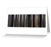 Moviebarcode: There Will Be Blood (2007) Greeting Card