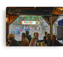 Rain at Annafest in Forchheim, Germany, 2009. Canvas Print