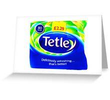 Tetley Tea Product Edit  Greeting Card