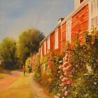 Cottages and roses by Beatrice Cloake