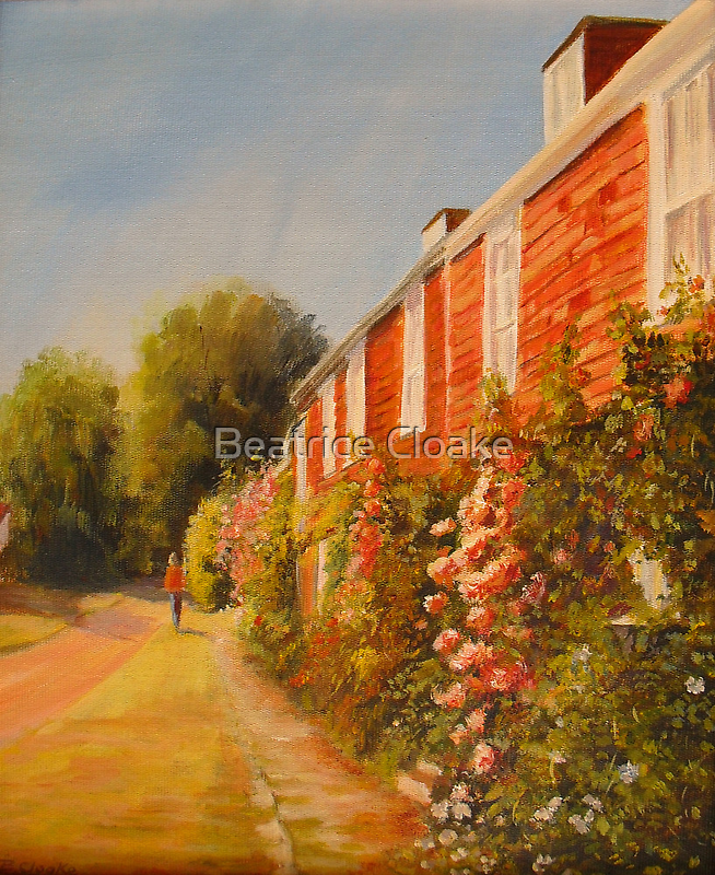 Cottages and roses by Beatrice Cloake Pasquier