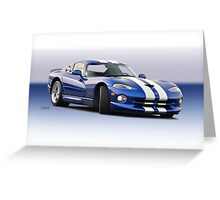 1995 Dodge Viper GTS VS1 Greeting Card
