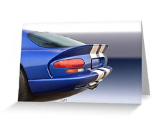 1995 Dodge Viper GTS VS5 Greeting Card