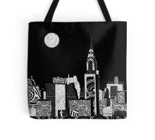 Manhattan Night New York Skyline Swings Tote Bag