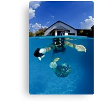 Underwater Hockey Canvas Print