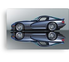 2000 Dodge Viper GTS VS4 'Mirror Image' Canvas Print