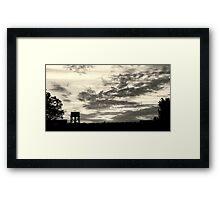 Dark & stormy Framed Print