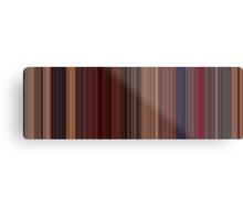Moviebarcode: Fear and Loathing in Las Vegas (1998) [Simplified Colors] Metal Print