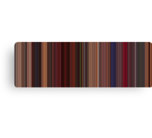 Moviebarcode: Fear and Loathing in Las Vegas (1998) [Simplified Colors] Canvas Print