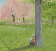 Cherry Tree Sketcher - Central Park by artofjackmck