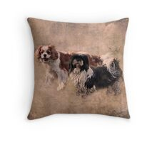 """The Two Rogues ..."" Throw Pillow"