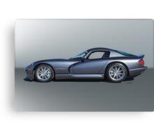 2000 Dodge Viper GTS VS3 'Profile' Canvas Print